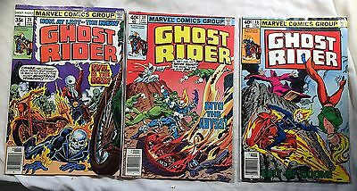 GHOST RIDER #28,38,39 ~ 1978,1979 Marvel Comics - Tom Sutton! Don Perlin!
