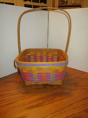 Longaberger 2017 Stained Pink/Purple and Yellow Easter Basket