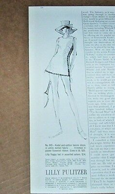 1972 print ad - Lilly Pulitzer tennis fashion clothing Vintage art Advertising
