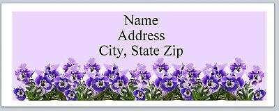 Personalized Address labels Purple Spring Flowers Buy 3 get 1 free (p 76)