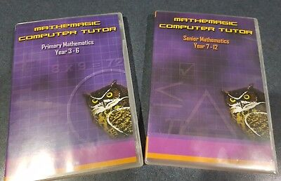 MATHEMAGIC COMPUTER TUTOR Educational Pc Cd Rom For English Levels 1-9