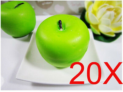 Christmas Green Apple-Shaped Smoke-Free Scented Candles Wholesale Lots 20 PCS