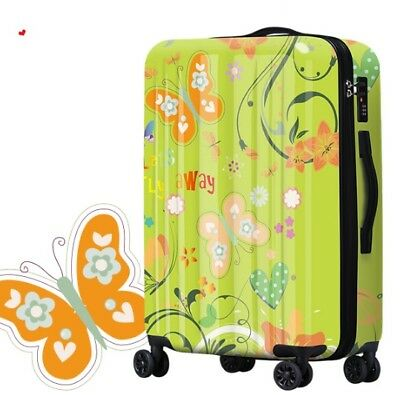 E218 Butterfly Tax Stamp Universal Wheel Travel Suitcase Luggage 24 Inches W