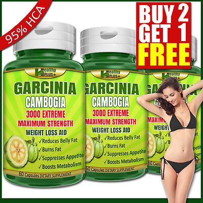 GARCINIA CAMBOGIA 95% HCA Capsules Detox Belly Fat Weight Loss Less Appetite