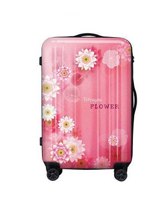 E221 Fashion Flowers Universal Wheel ABS+PC Travel Suitcase Luggage 24 Inches W