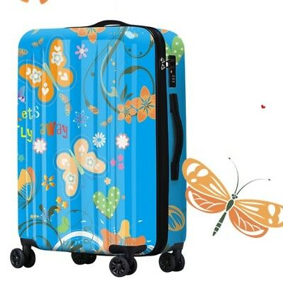 E216 Butterfly Tax Stamp Universal Wheel Travel Suitcase Luggage 28 Inches W