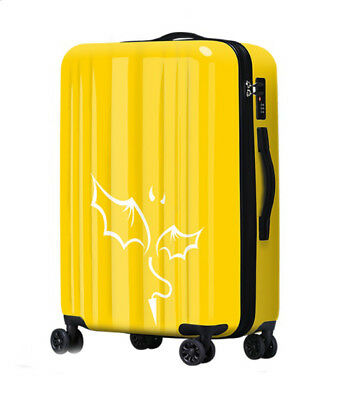 E278 Lock Universal Wheel Yellow Abstract Travel Suitcase Luggage 24 Inches W