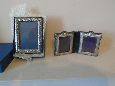 2 (Two) Very Pretty 1 Single,1 Double   Hallmarked Silver Photo Frames