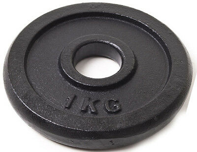 """1Kg Weight Discs, Cast Iron, 1"""" clearance hole, Plate for 1"""" Bars"""