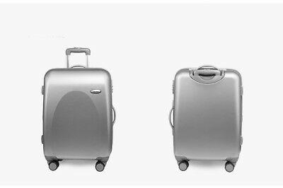 "E81 20"" ABS PC Silver Password Lock Portable Case Trolley Travel Bag Suitcase S"