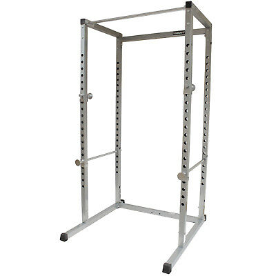 Mirafit Silver Power Cage Squat Rack Pull Up Bar Multi Gym Weight Lifting Stand