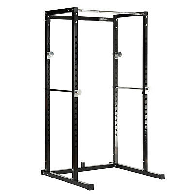 Mirafit Power Cage Squat Rack & Pull Up Bar Multi Gym Weight Lifting Stand Black