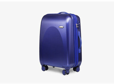"E85 24"" ABS PC Blue Password Lock Portable Case Trolley Travel Bag Suitcase S"