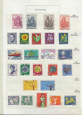 SWITZERLAND 1961-62 On Album page VFU..Removed for shipping..