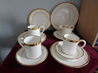 Crown Staffordshire Fin Bone China Smart And Elegant 12 Piece Tea / Coffee Set