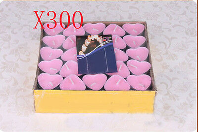 300X Wedding Party Romantic Heart-Shaped Pink Candles Wholesale Lots 300 PCS