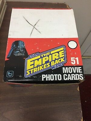 Vintage Topps Cards (1980) STAR WARS EMPIRE STRIKES BACK, Unopened Rack pack Box