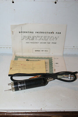 Vintage Precision High Frequency Vacuum Tube Probe Series RF-10A Manual Rare
