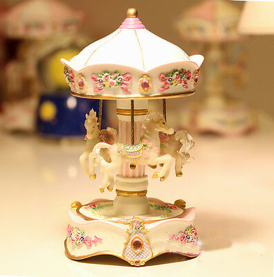 * Creative Pink 18 Sound Clockspring The Carousel Castle in the Sky Music Box