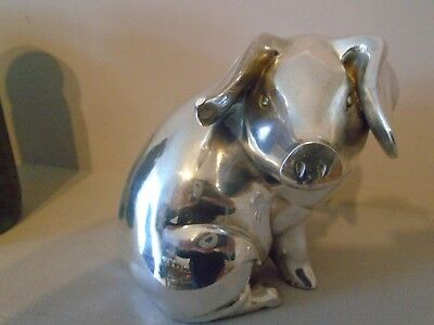 Stunning  Rare & Huge 1.391 Kg Country Artists  Hallmarked Silver Pig  Filled