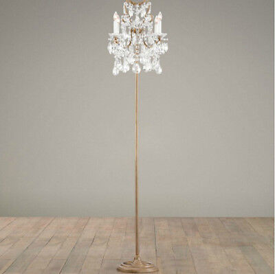 European Crystal Golden 4*Lights Height 162CM Decoration Living Room Floor Lamp