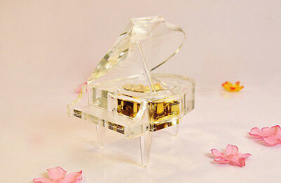 "* Transparent Creative Piano Glass ""Castle in the Sky"" Music Box Birthday Gift"