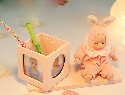 "* Pink Creative Doll Pen Case + Frame ""Lullaby"" Rotating Music Box Birthday Gift"