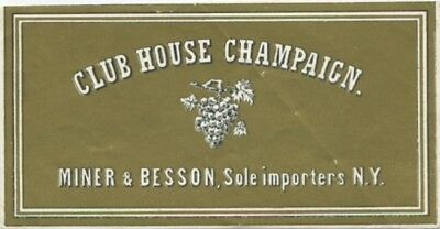 Club House Champaign - Miner & Besson - Champagner - Sehr alt!!!