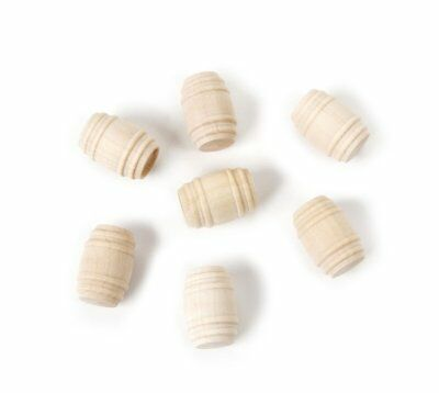 HO, O, OO HOn3 Gauge * Lot of 7 * BARRELS * NEW * Freight or Cargo *Natural Wood