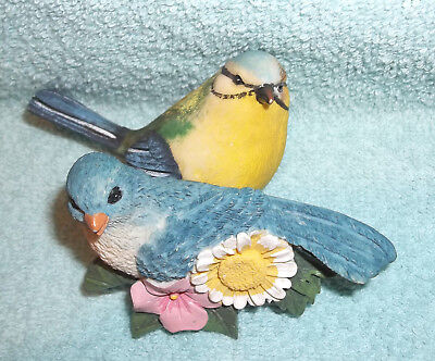 Pair of Ceramic Bird Figurines - 1 is Table Sitting & 1 is Wall Hanging