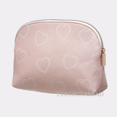 Authentic Pandora Valentine 2018 Pink with Hearts Cosmetic Bag
