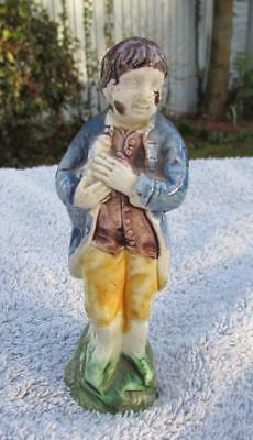 Rare Antique English Staffordshire Pratt Ware Boy and Animal Figure Circa 1790