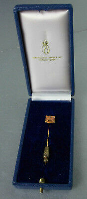 STICK / TIE PIN 14 carat gold with a diamond,by Royal Begeer,Netherlands, 1980s