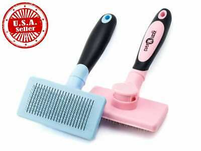 Self Cleaning Pet Slicker Brush for Cats and Dogs Shedding Tool Grooming