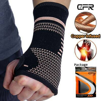 Magnetic Copper Wrist Support Hand Palm Brace Compression Glove Sleeve Arthritis