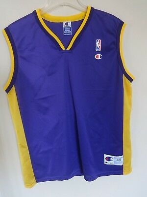 Men s Vintage Champion NBA Los Angeles Lakers Blank Authentic Jersey 40  Medium 834f30c6d