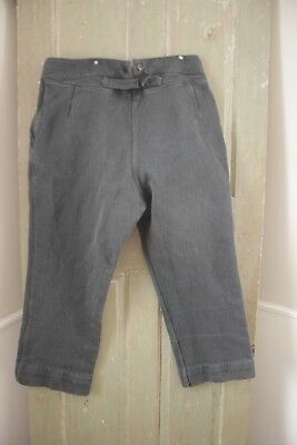 French Workwear pants salt and pepper  Chore  pants trousers 40 waist 1930's