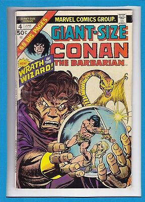 "Giant-Size Conan #4_June 1975_Fine+_""wrath Of The Wizard""_Bronze Age Marvel!"
