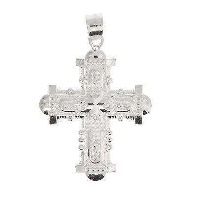 Sterling Silver Hollow Back Medieval Cross Charm