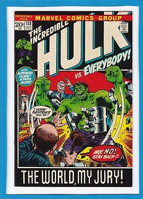 "Incredible Hulk #153_July 1972_Very Fine_""the World, My Jury""_Bronze Age Marvel!"