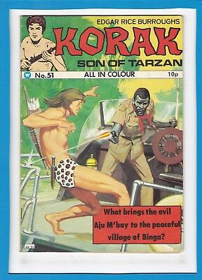 Korak, Son Of Tarzan #51_1975_Very Fine Minus_Edgar Rice Burroughs_Uk!