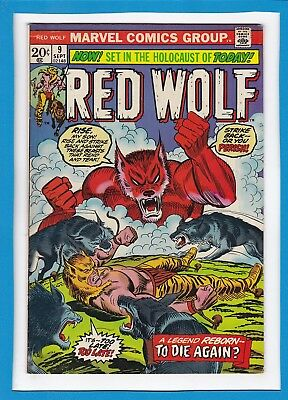 """Red Wolf #9_September 1973_Very Fine_""""to Die Again""""_Bronze Age Marvel!"""