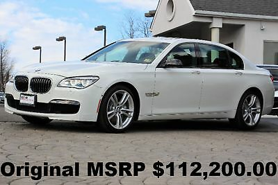"2014 BMW 7-Series 750Li xDrive M Sport PKG 2014 Bang and Olufsen Sound M Sport PKG 20"" M Wheels Executive PKG White AWD"