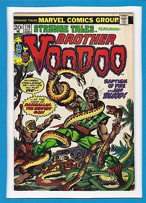 "Strange Tales #170_Oct 1973_Fine+_Brother Voodoo_""damballah, The Serpent God""!"