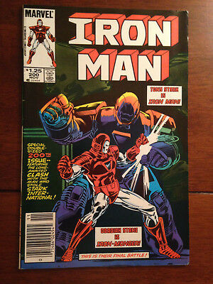 Iron Man # 200 Fn/vf Marvel Comics Newsstand Edition 1St Silver & Red Armor