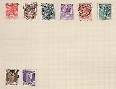 ITALY Collection On Album Page, Removed for Postage #