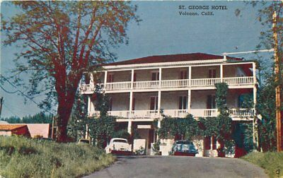 Autos 1950s St George Hotel roadside Volcano California Commercial postcard 1379