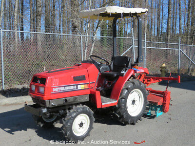 """Mitsubishi MT14D Agricultural Farm Tractor 4WD 3Spd Diesel PTO 48"""" Rear Tine"""