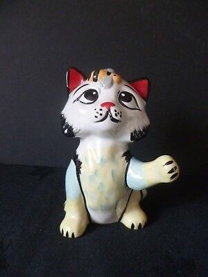 """Lorna Bailey Collectors Hand Painted Signed Cat """"buzzy Bee"""" Brand New"""