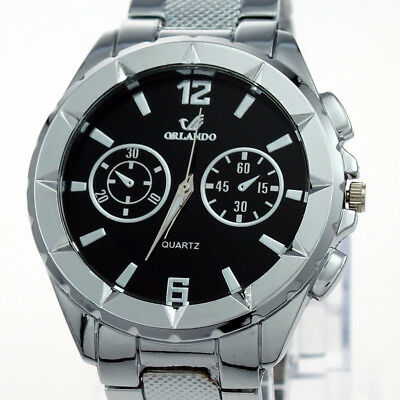New Trendy Men Quartz Analog Stainless Wristwatch SN25H